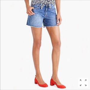 J.CREW High rise denim cut off women's shorts